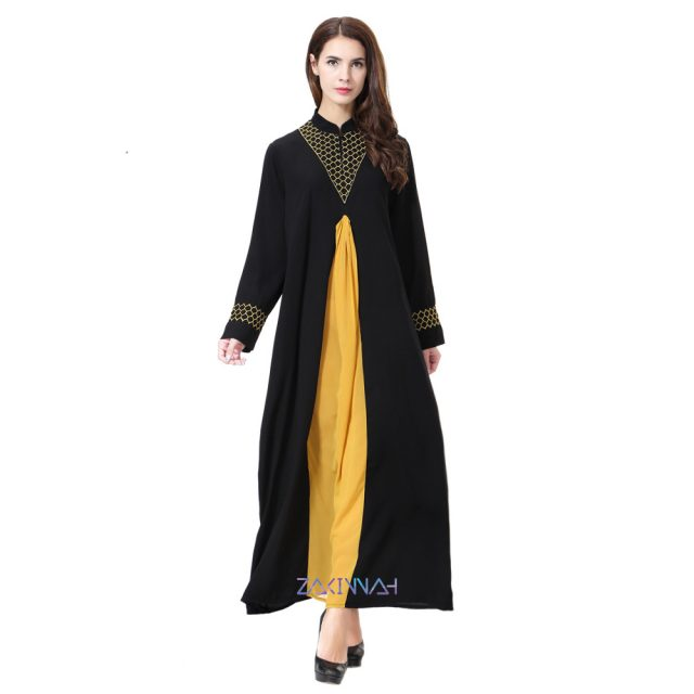 Casual plus size Abaya Muslim Dress Women new islamic clothing Robes Arab 5aef95024